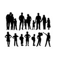 happy family activity silhouettes vector image vector image