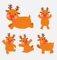 happy reindeer in action set vector image vector image