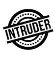 intruder rubber stamp vector image vector image