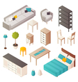 Isometric Home Furniture Set vector image vector image