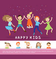 joyful happy cute children concept vector image vector image
