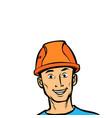 joyful man professional in a helmet vector image