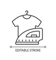 laundry linear icon vector image