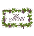 Menu Cover Design vector image vector image