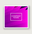 minimal cover graphic design neon halftone pink vector image vector image