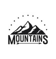 mountains icon on white background vector image vector image