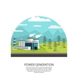Outdoor Powerplant Transmission Concept vector image vector image