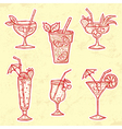 Party Drinks Set vector image
