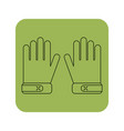 protective gloves working clothes flat icon vector image vector image