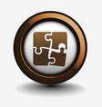 puzzle web icon vector image