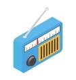 Radio isometric 3d icon vector image