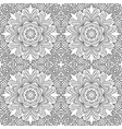 seamless doodle pattern coloring ethnic motives vector image vector image