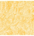 Seamless hand drawn pattern with leaves and sun vector image