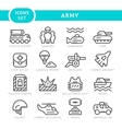 Set line icons of army vector image vector image