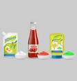 set mayonnaise ketchup and mustard vector image