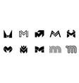 set of letter m logo vector image