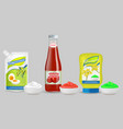 set of mayonnaise ketchup and mustard vector image vector image