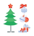 Set of Objects for Creation Christmas Holiday Tree vector image