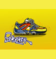 sneakers in color sport shoes vector image vector image