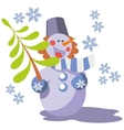 Snowman color 07 vector image vector image