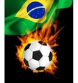 Soccer ball in fire vector image vector image