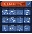 Sport icon set Flat style vector image