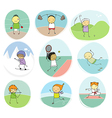 sport kids doodle collection vector image