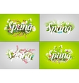 Spring text letter vector image