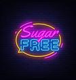 sugar free neon text neon sign vector image vector image