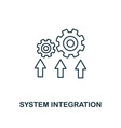 system integration icon thin line style industry vector image vector image