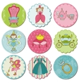 Tags with Princess Elements vector image