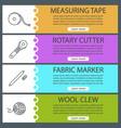 tailoring web banner templates set vector image