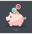 Time is Money Piggy Bank vector image vector image