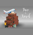 time to travel element vector image vector image