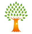 tree with hole vector image