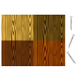 wood patterns vector image