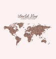 world map floral pattern stains on light pink vector image