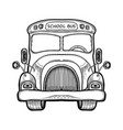 yellow school bus coloring book vector image