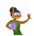 young african-american woman swimming underwater vector image vector image