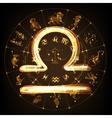 Zodiac sign Libra vector image vector image