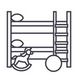 children room line icon sign vector image