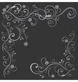 floral pattern white black vector image