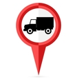 No truck allowed sign whit an explanation vector image
