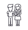 children schoolboy and girl with book line vector image