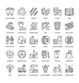 modern line icon of waste sorting vector image