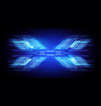 abstract dark blue x technology background vector image