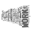 are you a work addict text word cloud concept vector image vector image