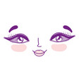 beautiful woman face icon vector image