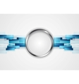 Blue hi-tech background with metal circle vector image vector image