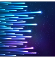 Blue neon moving shining lights vector image